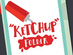 ketchup folder cover absent work printable by glueandink