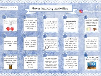Home Learning Activities - Maths 2