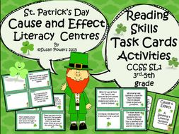 St Patrick's Day Cause and Effect Reading Comprehension Games