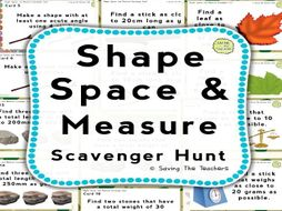 Shape, Space, and Measure Outdoor Task Cards