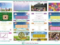 Kitchen Cookware Piggy Bank English Interactive PowerPoint Game
