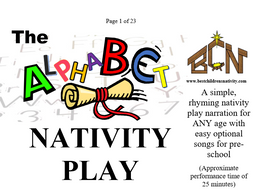 The Alphabet Nativity Play; Perfect for special needs, pre-school,primary, all age and inclusion