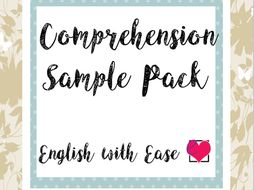 Reception to Year 6 Comprehension Sample Pack
