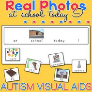 At School Today I...Board and Cards - Real Photo Visual Aids for Autism