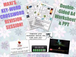 Drama GCSE Key-Word Revision Sessions [Crosswords & Games] (Exam Preparation)