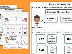 Year 4 Round to the Nearest 100 Autumn Block 1 Maths Homework Extension
