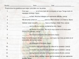 Demonstrative Adjectives Matching Spanish Worksheet By Eslfungames