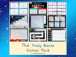 The 'Tricky Blends' Phonics Games Pack