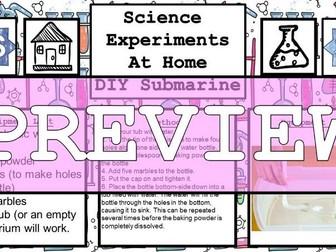 Science Home Experiment - DIY Submarine