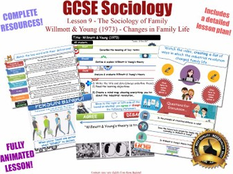 Willmott & Young - Changes in Family Life - Sociology of Family - L9/20  WJEC EDUQAS GCSE Sociology