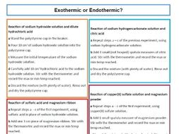 Worksheets Exothermic And Endothermic Reactions Worksheet exothermicendothermic reactions worksheet and teacher sheet by worksheet