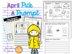 Visual Writing Prompts with Spelling Supports for ALL students