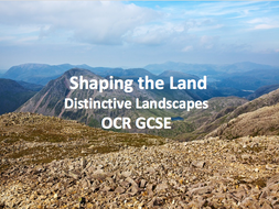 Distinctive Landscapes - Shaping the Land