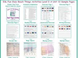 Beach Things-Activities Level 2-A Unit 12