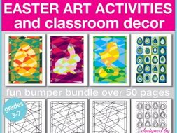 Easter art and craft creative activities and classroom decor