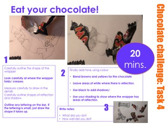 KS3 - Chocolate Challenge Observational Drawing Assessment