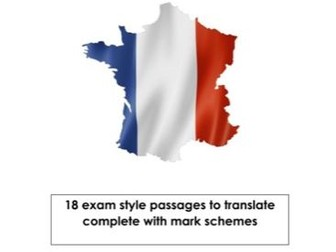 French Translation Exam Practice Booklet (GCSE)