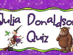 Julia Donaldson Quiz World Book Day