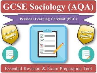 FAMILY [Personal Learning Checklist, Key-words Review, DIRT, AfL] AQA Sociology GCSE (New Spec)