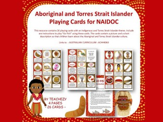 Aboriginal and Torres Strait Islander Playing Cards NAIDOC