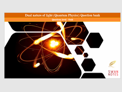 AS level physics Dual nature of light (quantum physics) question bank