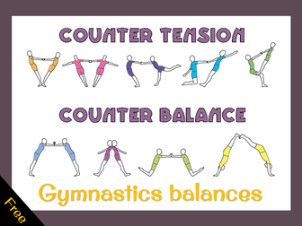 Gymnastics balances -counter tension and counter balance (basic)