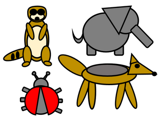 Create desert animals and insects - drag and drop - (Shapes and space\Maths\Numeracy\Computing)