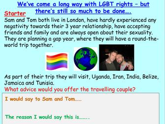 LGBT: homophobia PSHE