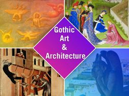 GOTHIC ART in Medieval Times SHOW + TEST = 231 SLIDES highly visual