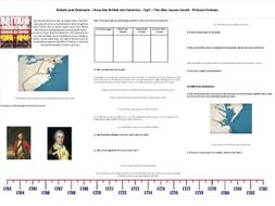 9-1 Rebels and Redcoats - Ep4 - Worksheet to support the Richard Holmes BBC Documentary