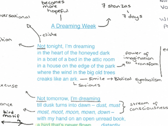 my bed is a boat poem analysis