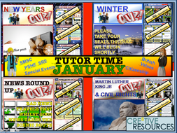 January Tutor Time Form Time