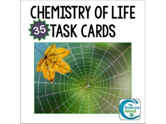 Chemistry of Life Task Cards with PowerPoint Review