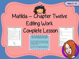 Editing Writing Complete Lesson  – Matilda