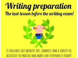 GCSE Spanish writing exam. Last minute tips and advice. Includes practice activities + model answers