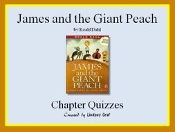 James and the Giant Peach - Quizzes Only