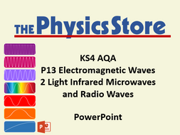 KS4 GCSE Physics AQA P13 2 Light Infrared Microwaves and Radio Waves  PowerPoint