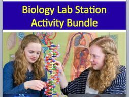 Biology Lab Station Activity Bundle - 17 - Engaging, Hands-on Activities Biology Lab Station