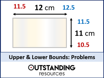 Upper and Lower Bounds 2 - Area, Perimeter, Speed, Distance and Time Problems  (+ worksheet)