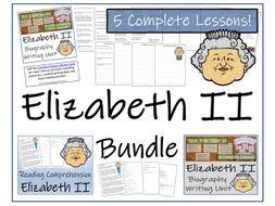 UKS2 Literacy - Queen Elizabeth II Reading Comprehension & Biography Bundle