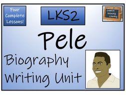 LKS2 Pele Biography Biography Writing Activity