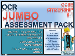 Citizenship GCSE 9-1 OCR Complete Assessment /Exam and Analysis Package