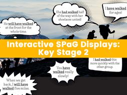 """""""Interactive SPaG Displays: Key Stage 2 – Expanded Noun phrases, Modal Verbs, Passive Voice and More"""