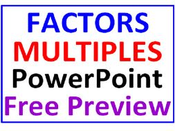 Factors and Multiples  FREE PowerPoint PREVIEW
