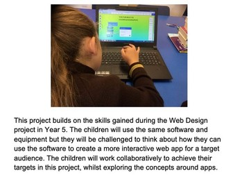 Easy Year 5/ 6 Web App Design with tutorials and videos