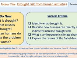 Drought Risk Caused By Human Activities