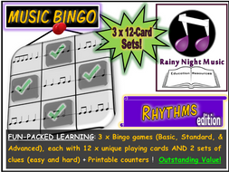 MUSIC BINGO Rhythm