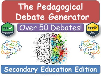 The Pedagogical Debate Generator! [Secondary Teacher Training, NQT , RQT, PGCE, CPD] Training