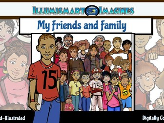 Friends and Family: Hispanic CommUNITY 40 pc. ClipArt