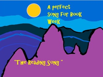 """""""The Reading Song"""" Catchy and easy  for Book Week"""